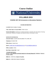 Course Outline August  2015