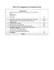 SOCI 321 Assignment 4 Evaluation Form