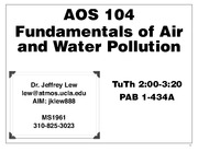 AOS 104 - Introduction to chemical Oceanography note