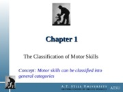 Chapter 1 - Classification of Motor Skills
