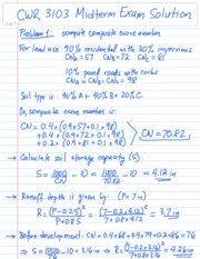 CWR 3103 Midterm Exam 2007 Solution