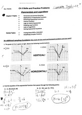 Exponentials and Logarithms Worksheet