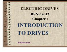 CHAP 4 - Introduction to Electric Drives