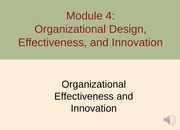 Module 4 Organizational Structure F13 - Part 2