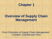Chapter 01 Overview PSCM2E