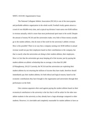 NCAA Argumentitive Essay