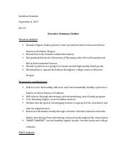 Executive Summary Outline