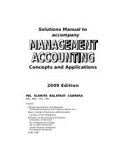 Title Page - Solutions Manual