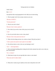 Writing Interview for Children-1