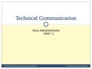 TechComm, Lecture 17 - Oral Presentations 1