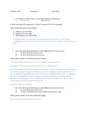 Stat 2 Fall 2014 Homework 7 Solutions
