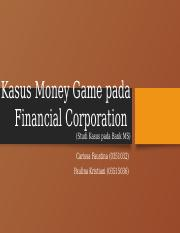 Kasus Money Game di Bank ms