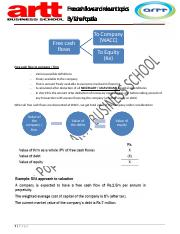Business valuation - free cash flows and relevant topics handout # 1.pdf