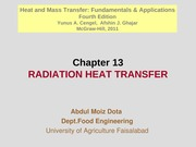 Chapter 13 - Radiation Heat Transfer
