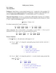 16 The Chain Rule Solutions