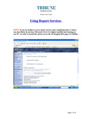 User Guide - Report Services