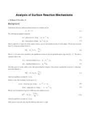 Surface Kinetics-rate expressions