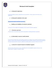 BSBRES401 Research brief template - student (2).docx