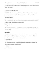 Chapter 8 Knowledge Assessment