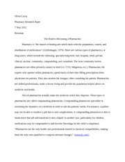 Pharmacy Research Paper