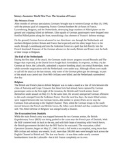 history classnotes World War Two The Invasion of France
