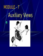 Unit 7 - Auxiliary Views