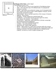 Midterm - The Mosque of Ibn Tulun