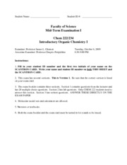 CHEM 222  Midterm 1 Practice Problems w/ answers