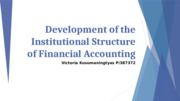 Chapter 3 Development of the Institutional Structure of Financial Accounting