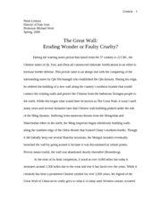 history paper - Great Wall