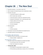 The New Deal notes