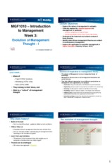 MGF 1010 Lecture 3 - Evolution of Management Thought - I (6 Slides)