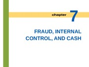 Lecture 6: Fraud, Internal Control and Cash