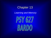 Learning_and_Memory_Chapter_13.ppt