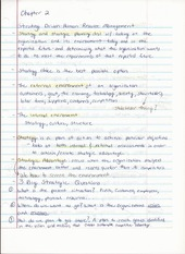 BUS ADM 362 Intro to HR Chapter 2 Lecture Notes on Strategy Driven Human Resources Management