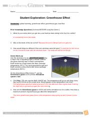 The Greenhouse Effect Worksheet Answers - Worksheet List