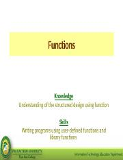 Module 3 - Functions.ppt