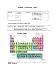 Chemical Foundations 2