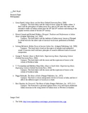 a bibliography for a research paper