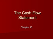 10 - The Cash Flow Statement