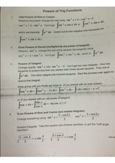 Powers of Trig Functions