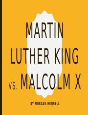 Martin Luther King Vs Malcolm X