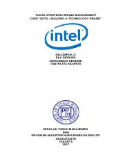STRATEGIC BRAND MANAGEMENT-INTEL