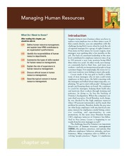 Chapter 1 Human Resources