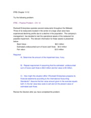 IFRS Ch. 12 Problem