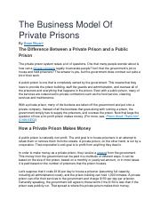 The Business Model Of Private Prisons.docx