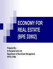 LECTURE+1+ECONOMY+FOR+REAL+ESTATE