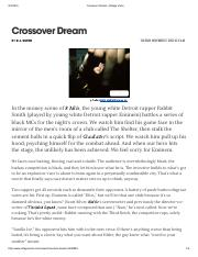 Crossover Dream _ Village Voice