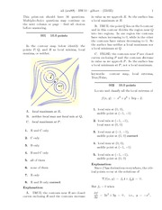 Homework on contour map with answers