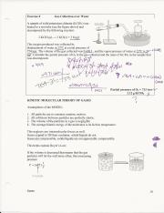 AP Chemistry Kinetic Molecular Theory Worksheet